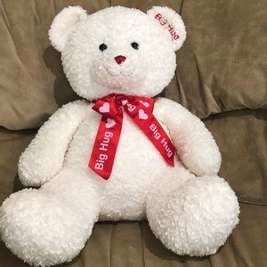 White Shaggy Teddy Bear